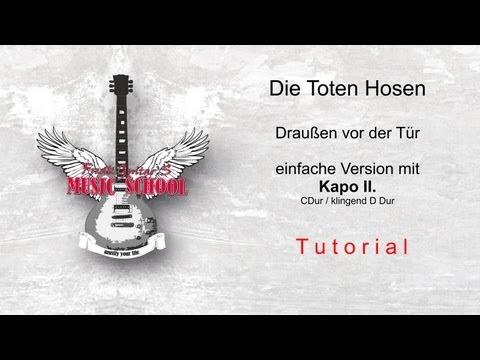 Die Toten Hosen Draußen vor der Tür - Easy Chords / Tutorial / Guitar Lesson / How to Play
