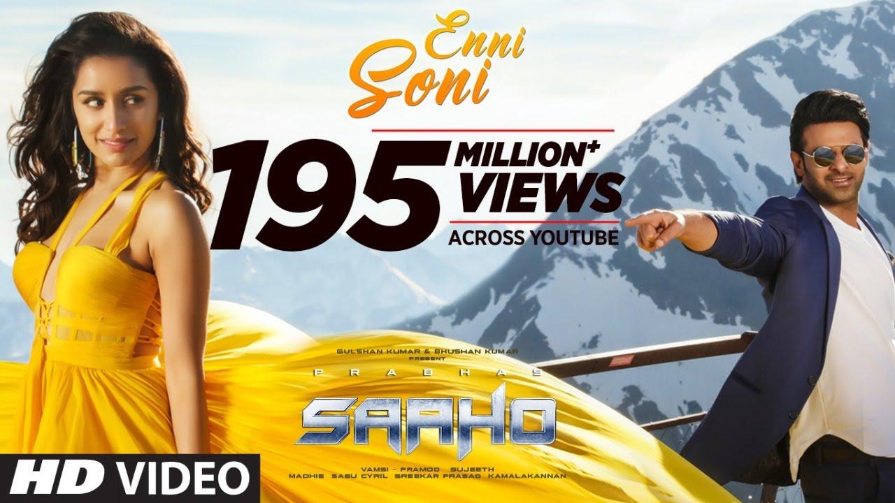 Saaho Song 'Enni Soni' Featuring Prabhas-Shraddha Kapoor is