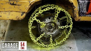 Making wheels using 50 meters worth of chains