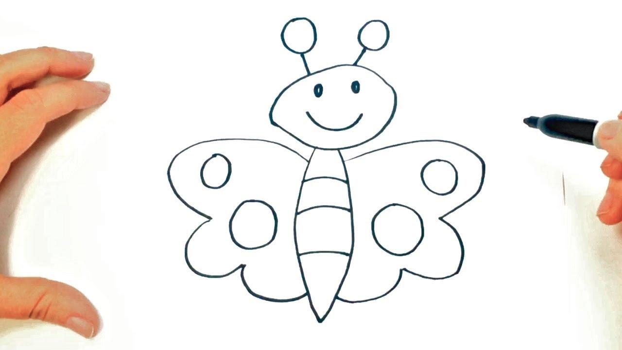 Como Dibujar Una Mariposa Muy Facil De Hacer Dibujos Fáciles