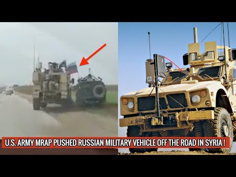 AFTER SENDING RUSSIAN SOLDIERS TO HOSPITAL IN FIST FIGHT, U.S ARMY PUSHES RUSSIAN VEHICLE OFF ROAD!