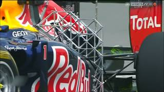 Formula one 2012 Canadian GP free practice 1 musical ending footage Sky Sports F1