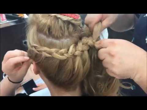 facil y sencillo peinado semirecogido,
