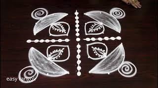 Diwali 2018 rangoli kolam designs with dots || easy & simple beginners deepam mugglu ||