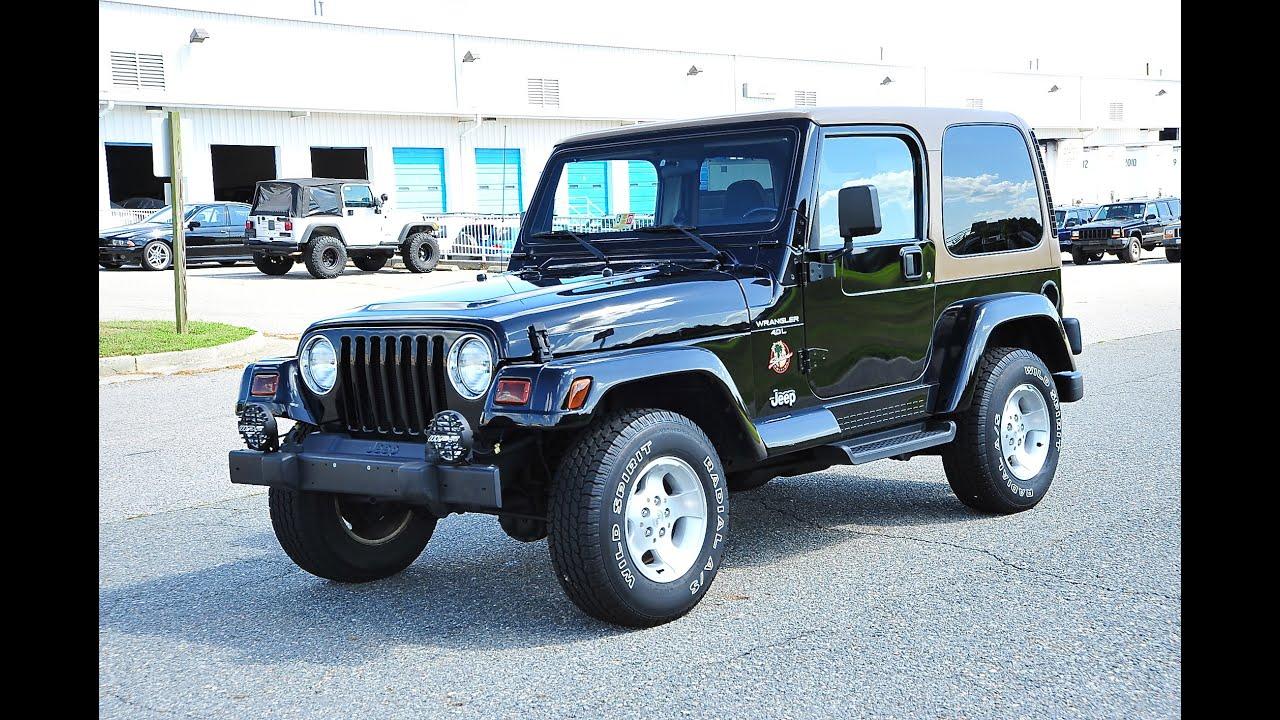 jeep wrangler sahara tj 2001 davis autosports 37k