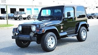 Davis AutoSports 2001 Jeep Wrangler Sahara For Sale / Only 37k Original Miles / Gorgeous TJ