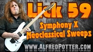 Lick #59 - Neoclassical Sweep Picking Symphony X Style + TAB