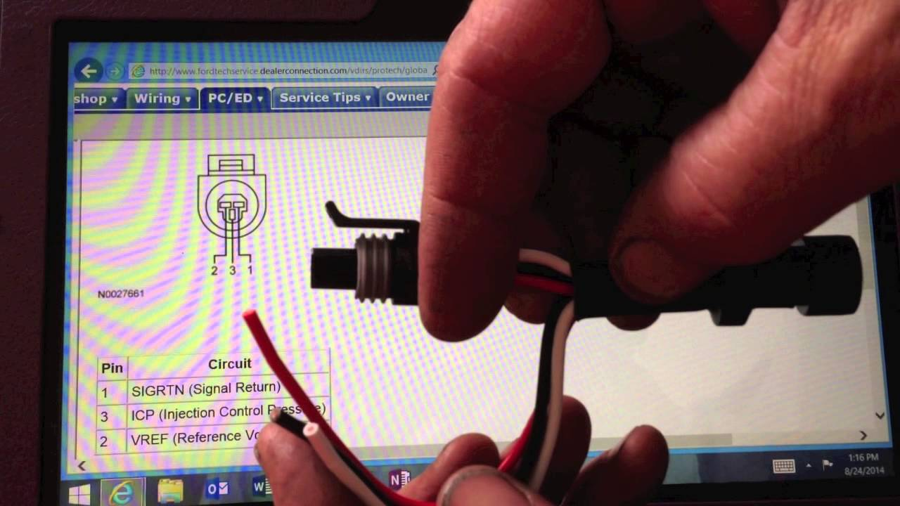 medium resolution of testing the icp voltage on the 6 0 powerstroke 6 0 icp pigtail wiring diagram