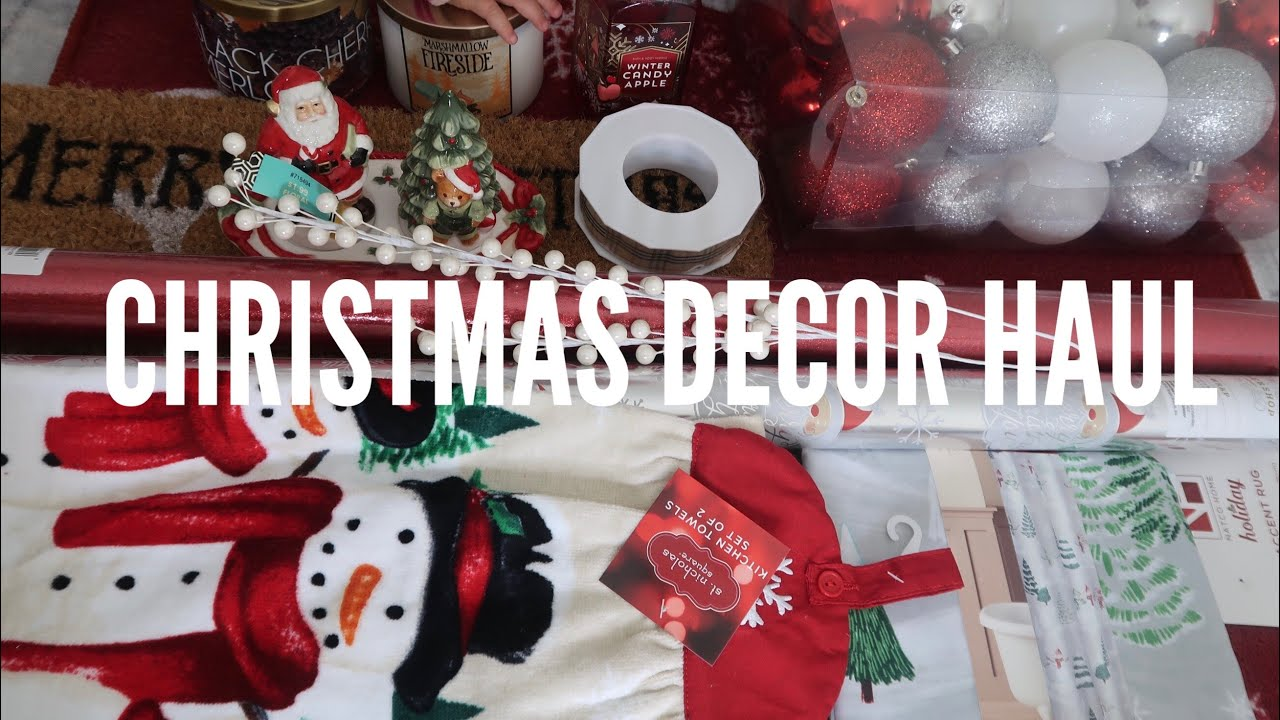 Christmas Decor Haul Target Home Goods Kohls Youtube