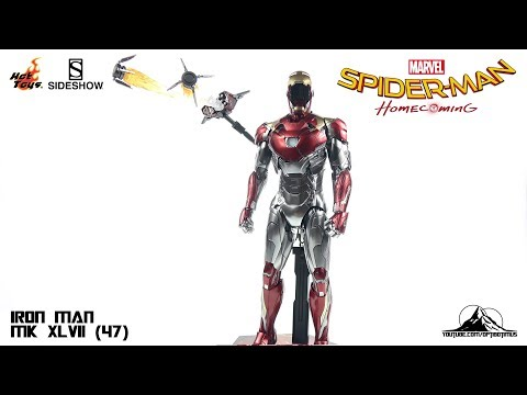 Optibotimus Reviews: Hot Toys Spider-Man Homecoming IRON MAN MK XLVII (47)
