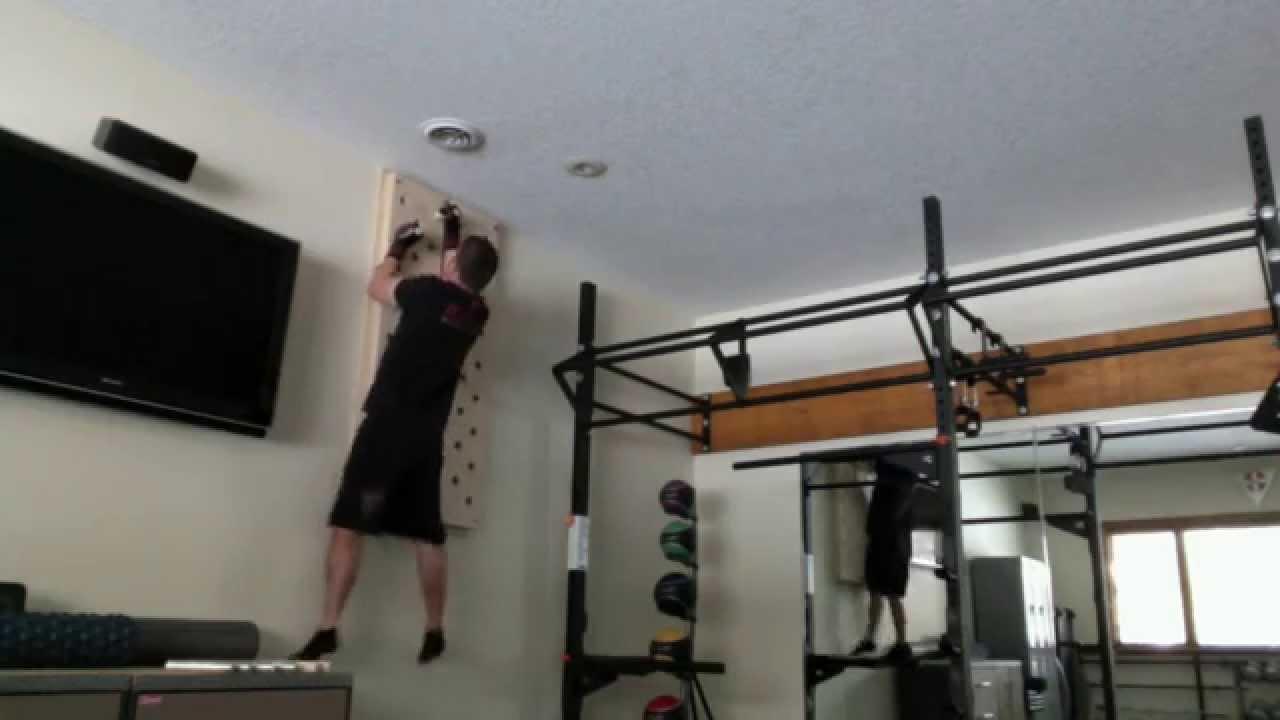 Peg Board TEAM RAGE Home Gym - YouTube