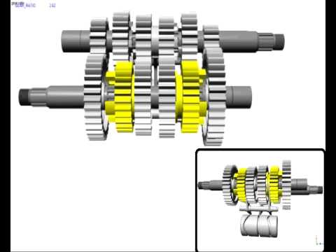 How a motorcycle gearbox works