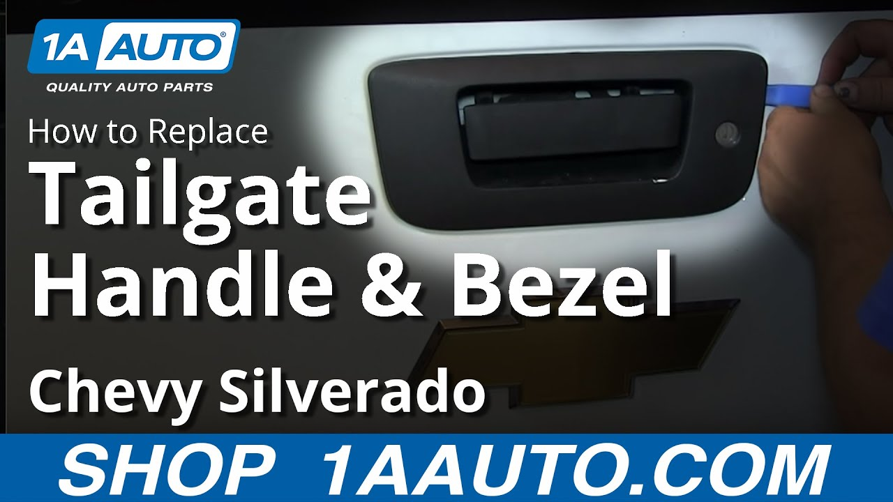 How To Install Replace Tail Gate Handle Chevy Silverado GMC Sierra