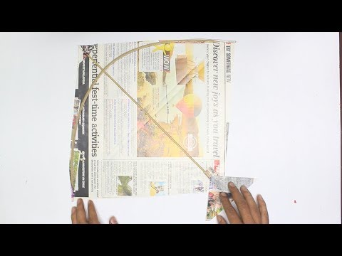 How to make Easy News Paper Kite (Patang) at Home That Can Fly | 5 Minutes | Kite  Making | Patang