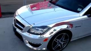 WRAPPING A 100K CAR San Diego Car Wrap SILVER CHROME AMG MERCEDES-BENZ