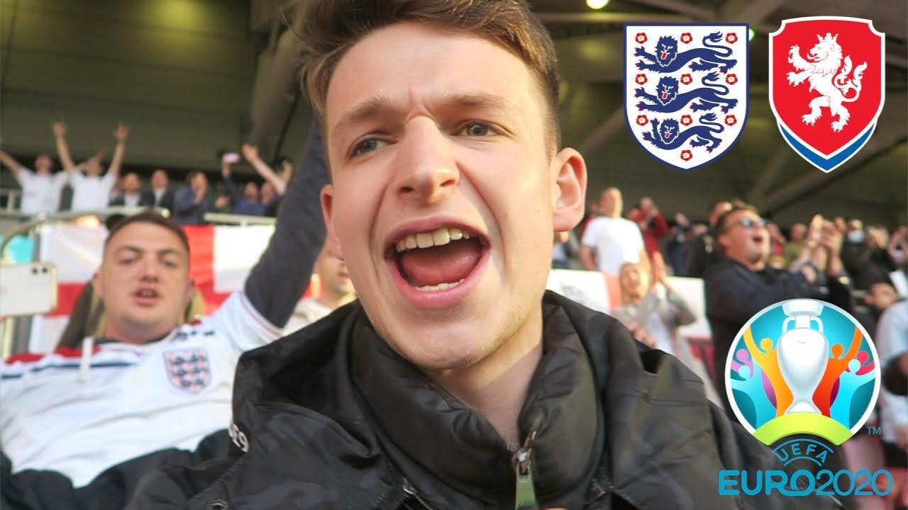 SCOTLAND OUT & ENGLAND THROUGH - SCENES at WEMBLEY vs Czech Republic