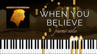 When You Believe: Prince of Egypt - Stephen Schwartz (Piano Solo Tutorial + Lyrics)