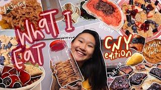 what i ate duŗing chinese new year | eating whatever i want & making bakwa