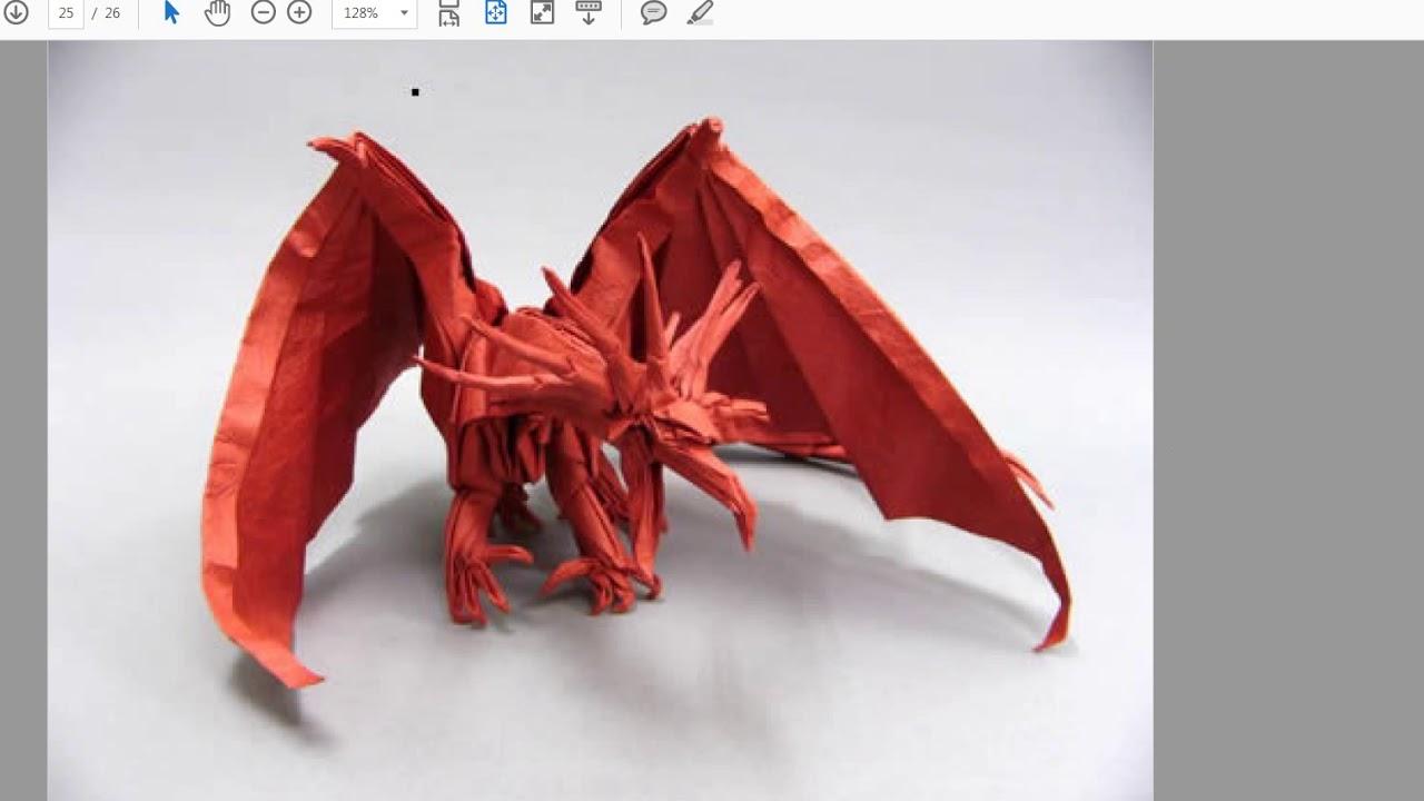 Ancient Dragon Origami Pasos Impresos Youtube Diagram By