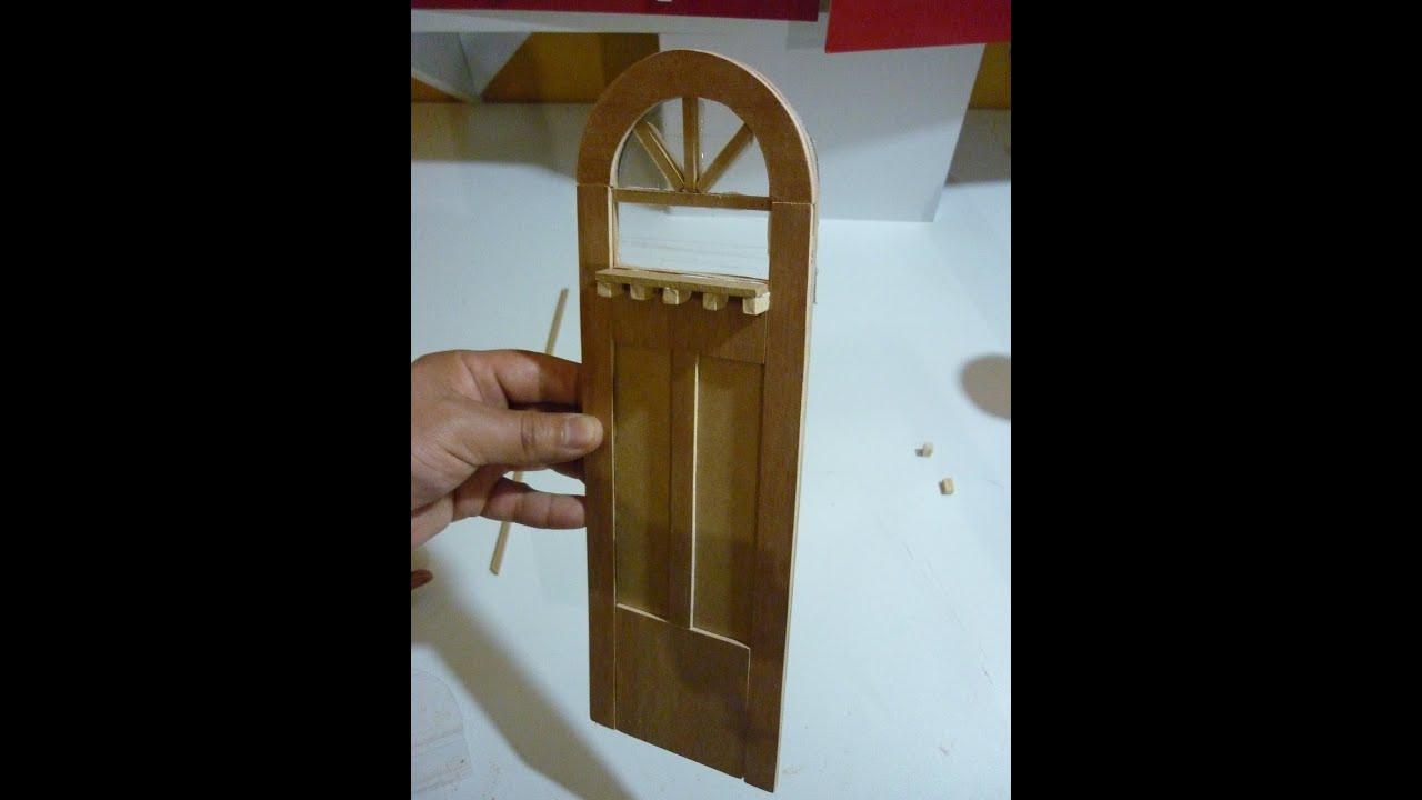 Como hacer una puerta para casas de mu ecas youtube for Puertas de casa