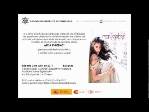 Invitación para el concierto de Mor Karbasi