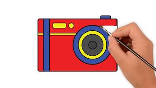 Learn How to draw a Toy Digital camera - How to draw funny cartoons