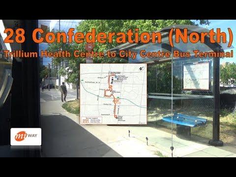 28 Confederation (North) - MiWay 2017 Nova Bus LFS 1759 (Trillium Health Ctr to City Ctr Terminal)