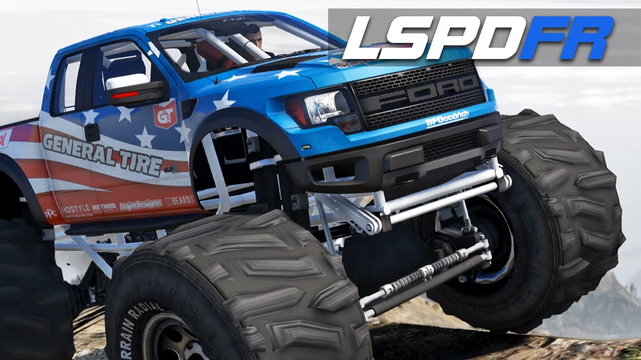 Lspdfr E159 Ford Raptor Monster Truck Chase Me Youtube