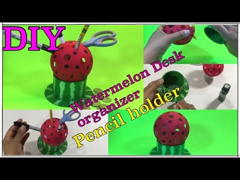 Pencil Holder Watermelon DIY ideas for your desk #03 from YouTube · Duration:  4 minutes 5 seconds