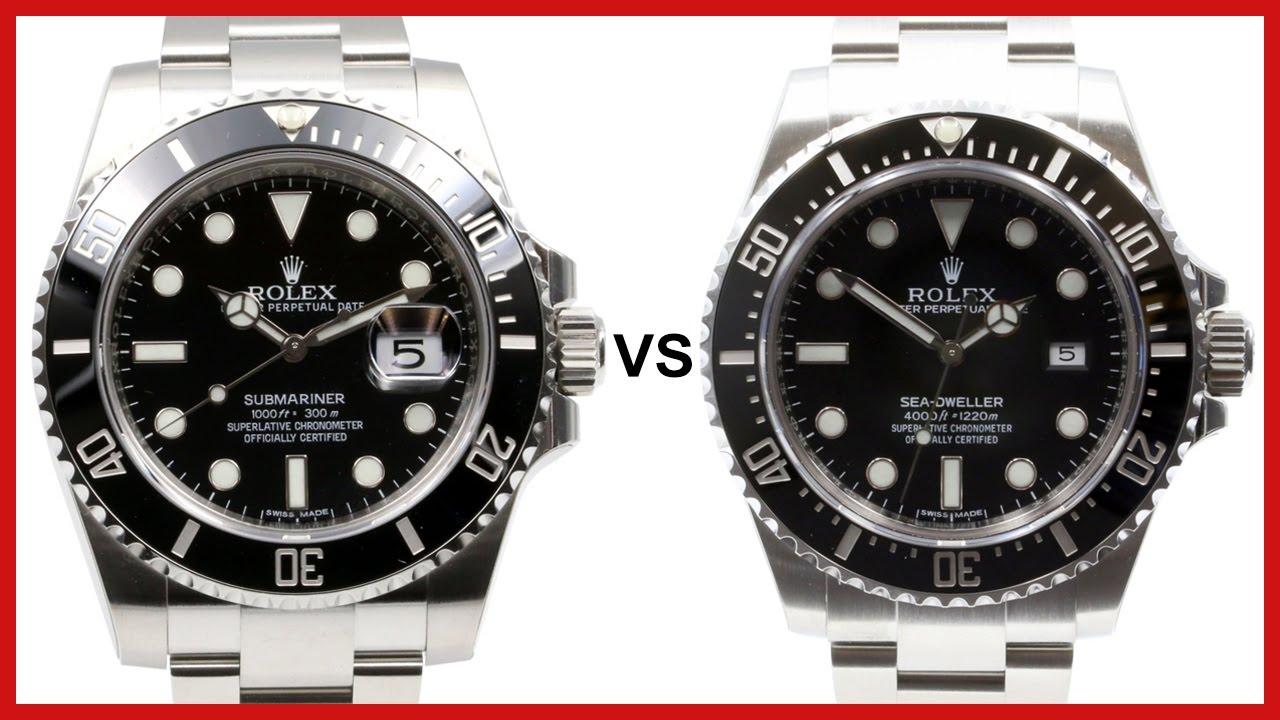 ▶ Rolex SUBMARINER vs. DEEPSEA Sea,Dweller COMPARISON (black dial, black  ceramic bezel)