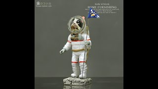 북유럽풍 강아지 우주비행사 인테리어 장식품 모형