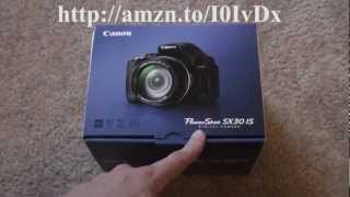 Canon SX30 IS Unboxing and Review
