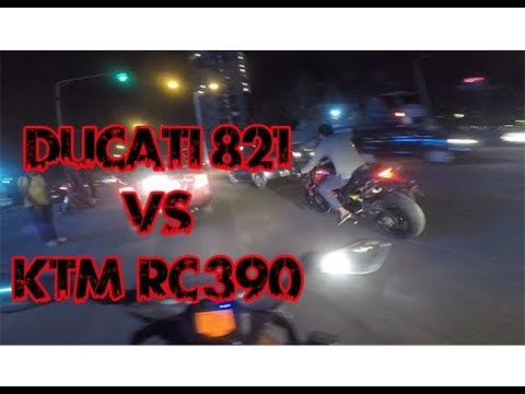 STREET RACE - | Ducati MONSTER  vs KTM RC  | -|