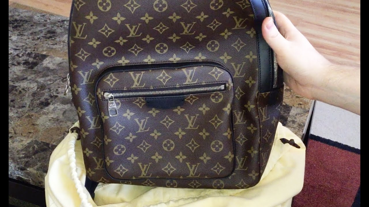 94a14e5ce290 Louis Vuitton Unboxing - Josh Backpack Monogram Canvas Macassar Leather