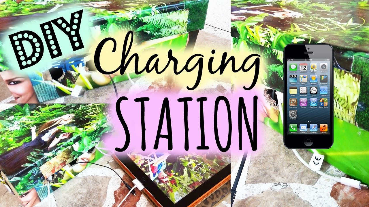 Make Charging Station Diy Charging Station Easy Youtube