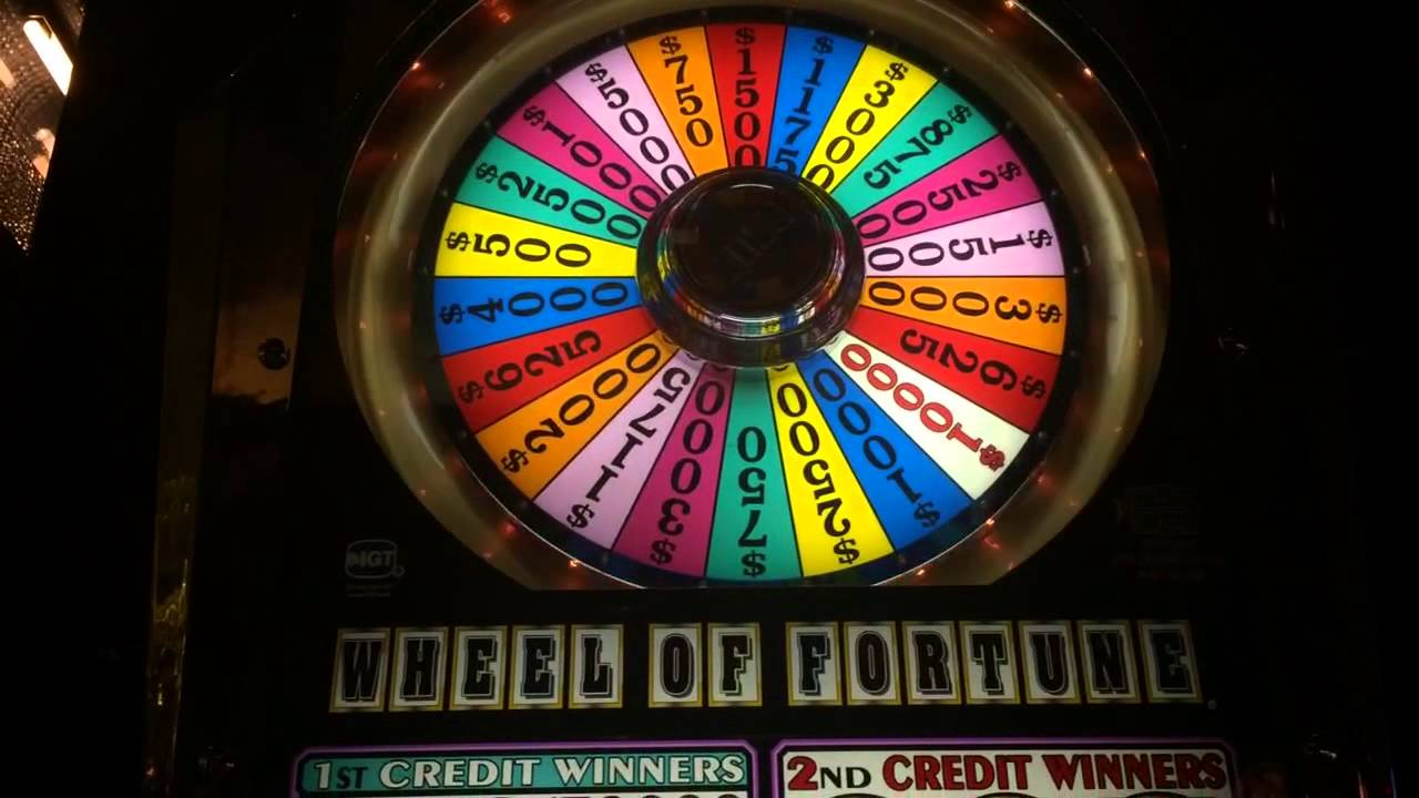 Wheel of fortune slot machine jackpot payout