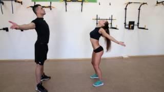 Разминка перед тренировкой от чемпионов по фитнесу.