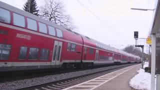 Züge am 21.2.2015 in Batzhausen. Etwa 11 bis 12 Uhr