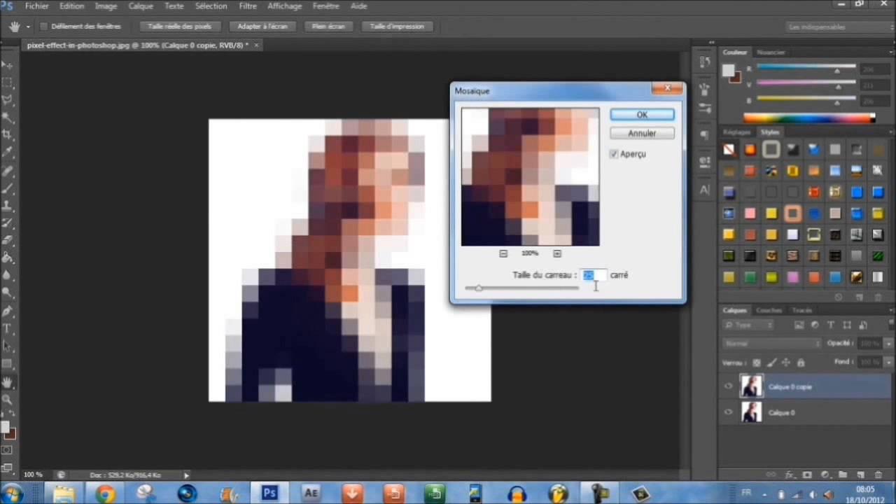 Tutoriel Photoshop Cs6 Donner Un Effet Pixel à Vos Photos Technique De Photographe