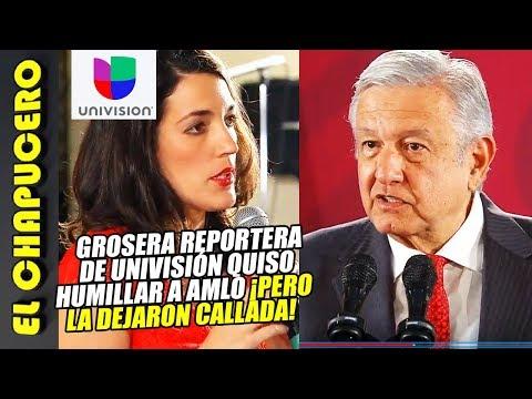Grosera Reportera de Univisión quiere humillar a AMLO, pero ¡la dejan callada!