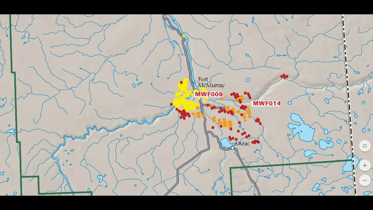 Fort Mcmurray Wildfire Map.Timelapse In Maps Showing The Growth Of The Fort Mcmurray Fire Youtube