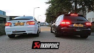 Akrapovic EXHAUST Battle: BMW M3 vs Audi RS4