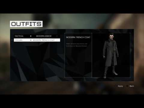 Deus Ex: Mankind Divided - Enforcer, Modern & Tactical Armor, Modern, Intruder & Classic Trench Coat