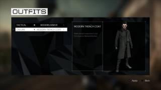 Deus Ex: Mankind Divided - Enforcer, Modern & Tactical Armor, Modern, Intruder & Classic Trench Coat