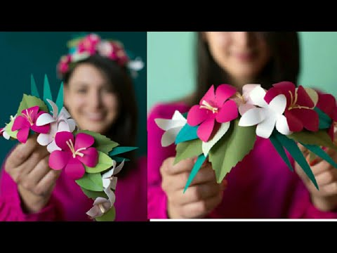 paper flower crown DIY | how to make paper flower crown | DIY SHIVANI |