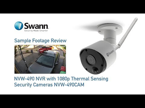 Swann 1080p NVR Sample CCTV Footage Review NVW-490 with NVW-490CAM Wi-Fi Security Cameras