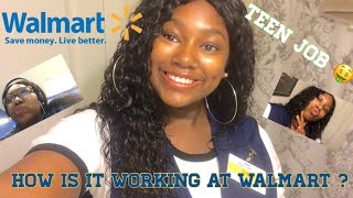 HIGH PAYING TEEN JOB ! WHAT IS IT LIKE WORKING AT WALMART ? VLOG 6 !
