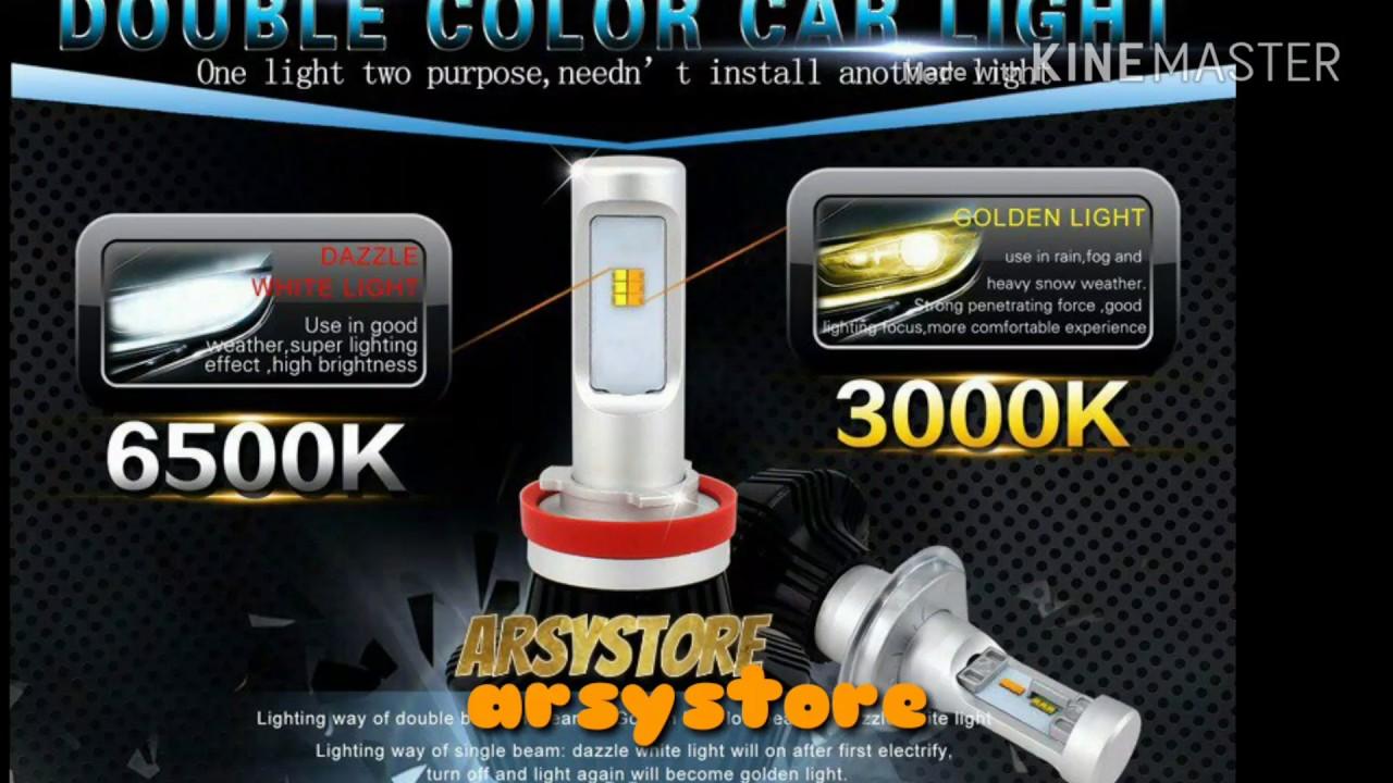 Lampu Led Foglamp Kabut Dua Warna H8 H11 H16 Putih Kuning Philips