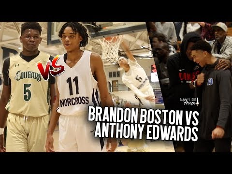 Top 20 Sophomores Brandon Boston & Anthony Edwards FACE OFF Norcross vs HSP Comes Down To The Wire!!
