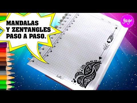 Tecnicas Como Dibujar Mandalas Y Zentangles Paso A Paso Margenes